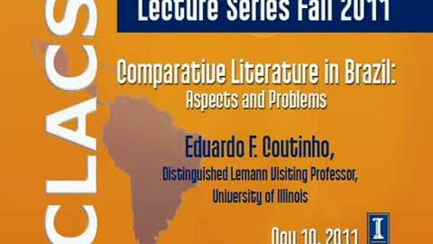 Thumbnail for entry Comparative Literature in Brazil: Aspects and Problems
