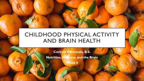 Thumbnail for entry Physical Activity in Childhood and Brain Health