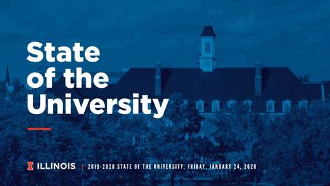 Thumbnail for entry State of the University, January 24, 2020