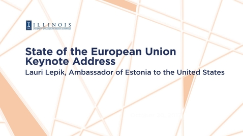 Thumbnail for entry 2017-10-20 - State of the European Union Keynote Address