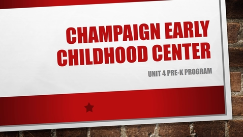 Thumbnail for entry Champaign Early Childhood Center Pre-K