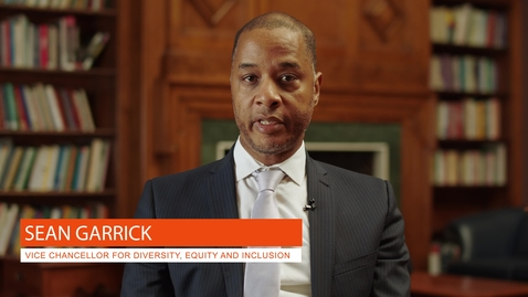 Thumbnail for entry Vice Chancellor for Diversity, Equity and Inclusion: Sean Garrick