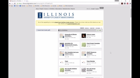 Thumbnail for entry UIUC ePortfolios -- Accessing Student work on illinois.digication.com