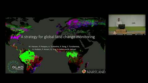 Thumbnail for entry NRES 500 Fall 2018 - Dr. Matthew Hansen - Global Land Monitoring Using Public Earth Observation Imagery