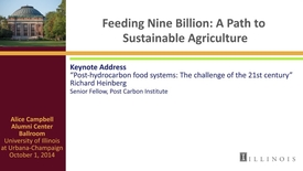 Thumbnail for entry Day 2 - Keynote Address - Post-hydrocarbon food systems: The challenge of the 21st century