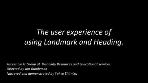 Thumbnail for entry NVDA for Windows: Landmarks and Headings Navigation