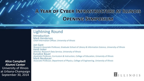 Thumbnail for entry Lightning Round: Challenges and Opportunities in the Use of CI to Support Research