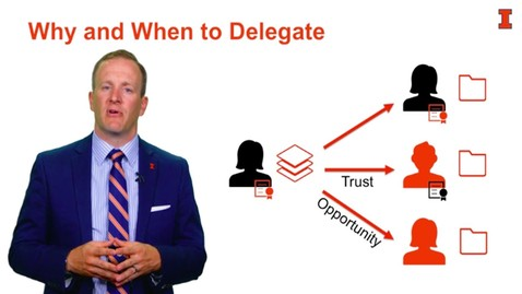 Thumbnail for entry Delegating Work