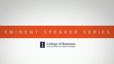 Thumbnail for entry Eminent Speaker Series: A Conversation with Todd Lillibridge (Q&A)