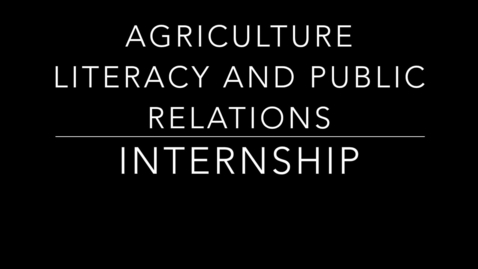 Thumbnail for entry Internship – DuPage County Farm Bureau – Rachel Ransom