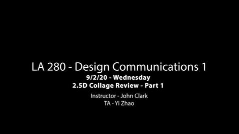 Thumbnail for entry LA 280 9-2-20 Collage Review