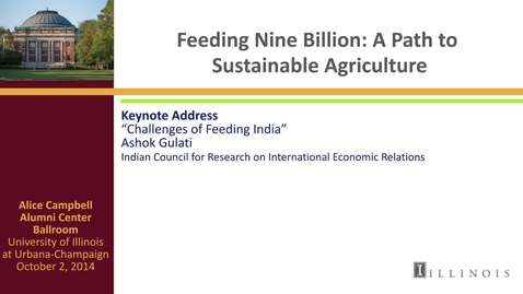 Thumbnail for entry Day 3 - Keynote Address - Challenges of Feeding India