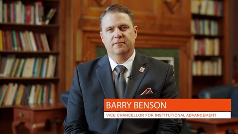 Thumbnail for entry Vice Chancellor for Institutional Advancement: Barry Benson