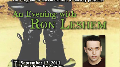 Thumbnail for entry An Evening With Ron Leshem