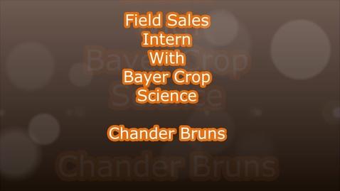 Thumbnail for entry Internship – Bayer Crop Science – Chandler Bruns