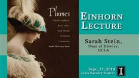 Thumbnail for entry Einhorn Lecture: Sarah Stein