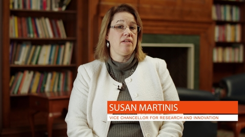 Thumbnail for entry Vice Chancellor for Research and Innovation: Susan Martinis