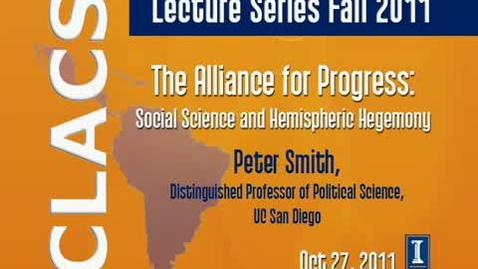 Thumbnail for entry The Alliance for Progress: Social Science and Hemispheric Hegemony