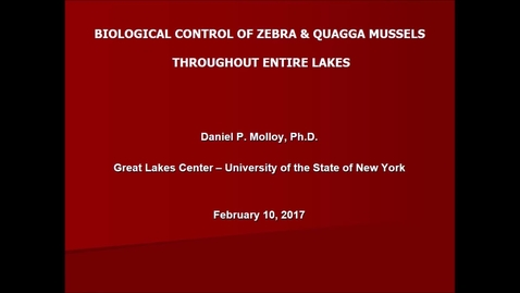 Thumbnail for entry NRES 500 Spring 2017 - Molloy - Biological control of zebra & quagga mussels throughout entire lakes