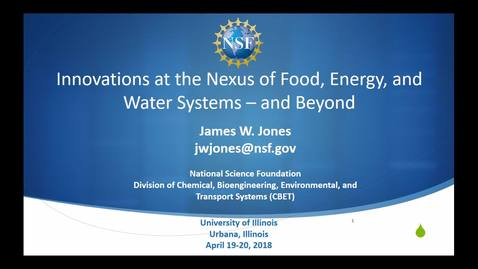 Thumbnail for entry NRES 500 Spring 2018 - James Jones - Agricultural Production Systems Analysis, Simulation, Crop and Soil Modeling, Environmental Effects on Crop Growth and Yield and Computer Applications in Agriculture