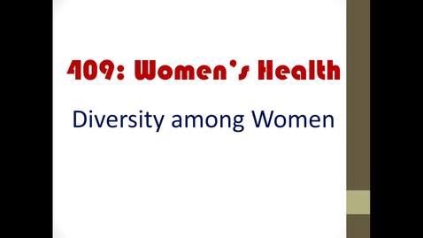 Thumbnail for entry Diversity among women_2