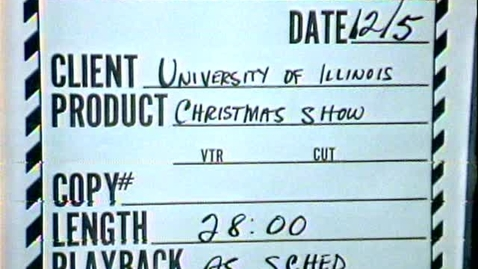 Thumbnail for entry Sing a Song of Christmas I, 1973 ~ Audiovisual Digital Surrogates from the University Videotapes, Series 39/1/15