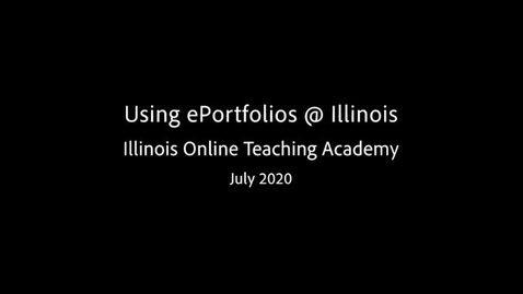 Thumbnail for entry ePortfolio at the University of Illinois