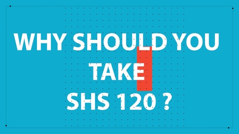 Thumbnail for entry SHS 120 Promotional Video