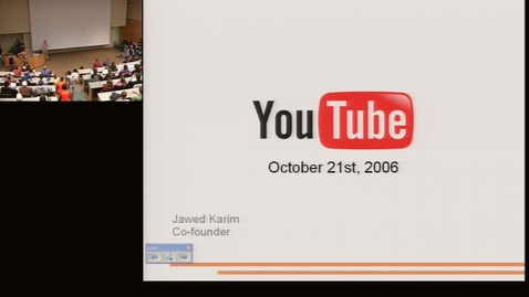 Thumbnail for entry ACM R/P 2006: Jawed Karim