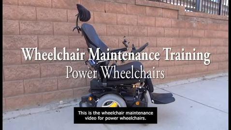 Thumbnail for entry V5g_Power Wheelchair Maintenance