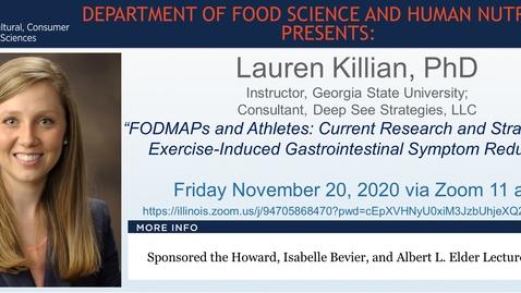 Thumbnail for entry FSHN 597 Fall 2020 Graduate Seminar- Dr. Lauren Killian- Nov. 20, 2020