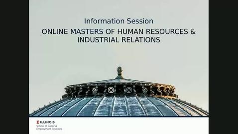 Thumbnail for entry Online MHRIR Program Information Session