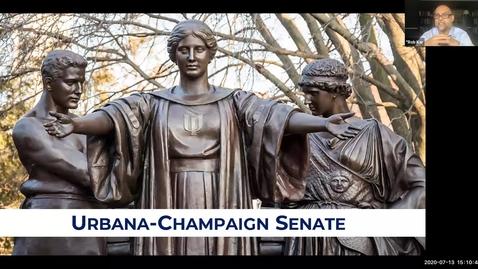 Thumbnail for entry Academic Senate Meeting, Jul. 13, 2020