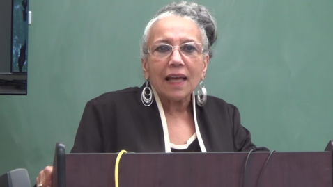 Dr. Doris Derby Lecture,3 - Born Digital Records from the Anthropology Colloquium Audiovisuals, Series 15/2/5