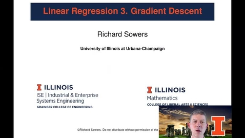 Thumbnail for entry Linear Regression 3: Gradient Descent