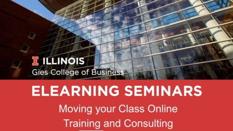 Thumbnail for entry Webinar: Moving your course online