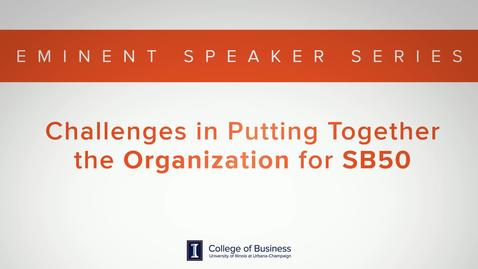 Thumbnail for entry Keith Bruce Eminent Speaker Series: Challenges Organizing Superbowl 50