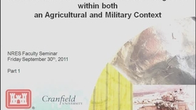 Thumbnail for entry NRES 2011 Fall Seminar Series - Anne Dain-Owens