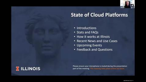 Thumbnail for entry 4A - State of Cloud Platforms at Illinois - Joshua Mickle, Kevin Bird, Tom Grissom, Spring 2020 IT Pro Forum