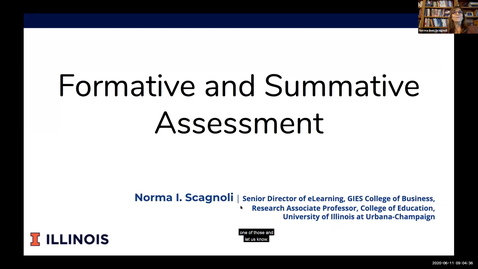 Thumbnail for entry OTA: Formative and summative assessments in an online course