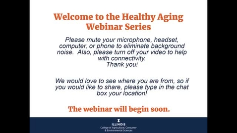 Thumbnail for entry Discover Aging - Finding Your Get Up and Go