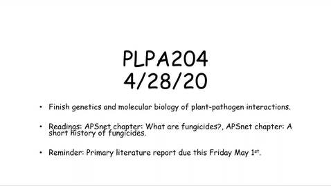 Thumbnail for entry PLPA204 Lecture 4-28-20