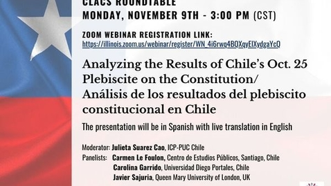 Thumbnail for entry November 9th 2020 Roundtable Chile I