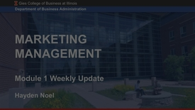 Thumbnail for entry Marketing Management Weekly Update August 17, 2018