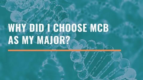 Thumbnail for entry Why Did I Choose MCB as my Major - Blashko Milenkovski