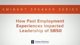 Thumbnail for entry Keith Bruce Eminent Speaker Series: Past Employment Experience