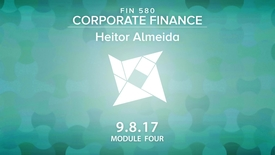 Thumbnail for entry Corporate Finance (FIN580)