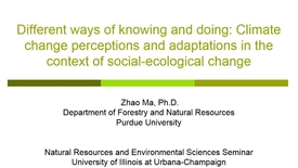 Thumbnail for entry NRES 2015 Spring Seminar Series - Zhao Ma, Ph.D.