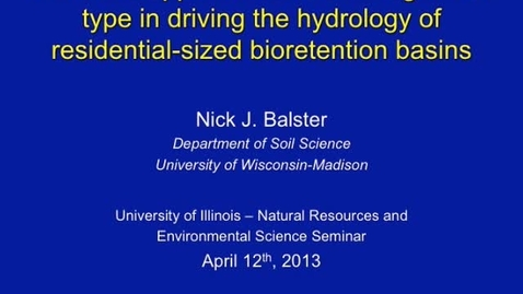 Thumbnail for entry NRES 2013 Spring Seminar Series - Nick J. Balster