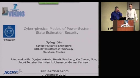 Thumbnail for entry Cyber-Physical Models of Power System State Estimation Security